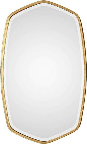 "wholesale Uttermost Duronia outlet sale Antique Gold Leaf 22 wholesale 1/4"" x 36 1/4"" Wall Mirror sale"