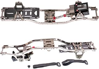 Toyvian 1 Set Carbon Fiber and Metal Crawler RC Car Chassis Frame Kit for SCX10 Scale RC Model Crawler 313mm