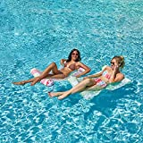 2 Sets 4-in-1 Hammock Inflatable Pool Float with Bonus Air Pump, Premium Swimming Pool Lounger, Multi-Purpose Pool Hammock (Saddle, Lounge Chair, Hammock, Drifter), Water Hammock Lounge