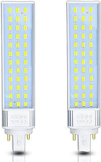 Klarlight G24 LED Bulb 13W LED G24 PL Lamp 2 Pin Horizontal Recessed Lights, Universal G24Q Bulb, G24D-1, G24D-2, G24D-3 LED PL Retrofit Lamp for 2 or 4 Pin 26W CFL Bulbs Replacement - Remove Ballast