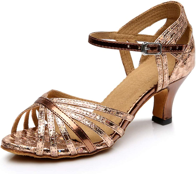 HCCY Goldener dünner Gürtel lateinische lateinische lateinische Tanzschuhe Weibliche weiche weiche Innenseite Mode Tanzschuhe  1940cf