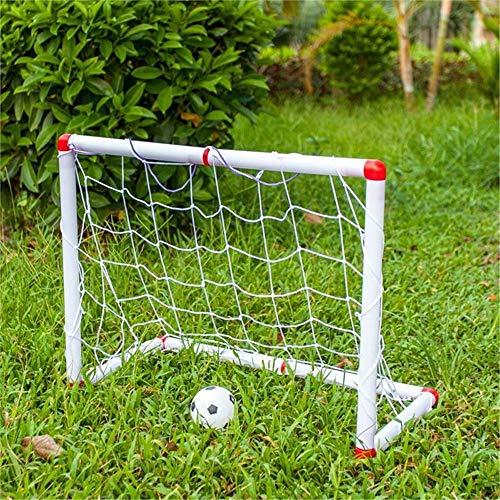 Ramingt-Outdoor Sports Objetivo de fútbol Portería de fútbol portátil for el Fútbol de niños Red de la Meta Exterior e Interior Juguete portátil portería de fútbol Patio Trasero para los niños