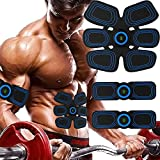 Muscle Stimulator, Abs Trainer Muscle Toner with LCD Display & USB Rechargeable ,Gel Pads,EMS Muscle Stimulator for Men & Women