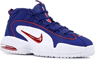 Men's Air Max Penny Red and Blue Leather Sneaker 42(EU)-8½(US) Multicolour