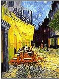 Pintar por numeros Van Gogh Cafe - Pintura para Pintar por nmeros con Pinceles y Colores Brillantes - Cuadro de Lienzo con numeros Dibujados para Adultos y Nios