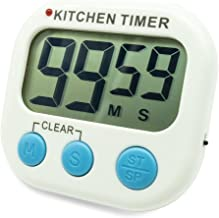 Digital Kitchen Countdown Timer, Silent Flashing/Beeping Mini Portable Button Lcd Timer with Stand and Magnetic Back for Kids, Teachers, Classroom, Cooking, Chef, Homework, Spa, Learning, Office.