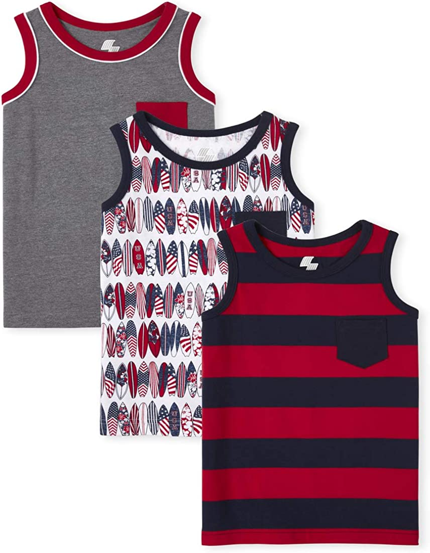 The Children's Place Boys Americana Pocket Tank Top 3-Pack