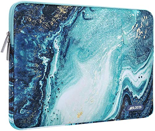 MOSISO Tableta Funda Protectora Compatible con 2020 10.9 iPad Air 4/iPad Pro 11/2019 iPad 7 10.2/iPad Air 3 10.5/iPad Pro 10.5/iPad 9.7,Bolsa Vertical de Poliéster Creative Wave...
