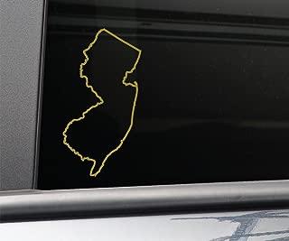 New Jersey Vinyl Decal Laptop Car Truck Bumper Window Sticker, 6.5