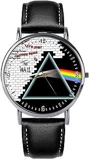 Quyuhgek Pink Floyd De Acero Inoxidable de línea Blanca Reloj de Bolsillo mecánico Reloj de Bolsillo Pendiente del Reloj d...