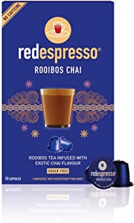 Sponsored Ad - Rooibos Tea Chai - Red Espresso - South African - Pods Compatible with Nespresso machines - Vegan, Non GMO,...