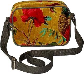 Purple Possum® Schultertasche für Damen, Samt, Blumenmuster, Umhängetasche, Umhängetasche, Umhängetasche, Schultertasche