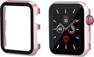 TOMAZON Case Compatible for Apple Watch 44mm Series 5/4 with Anti-Scratch Screen Protector Cover, Ultra-Thin Full Coverage Shockproof Defense Edge Bumper for iWatch 44mm (Rose Gold)