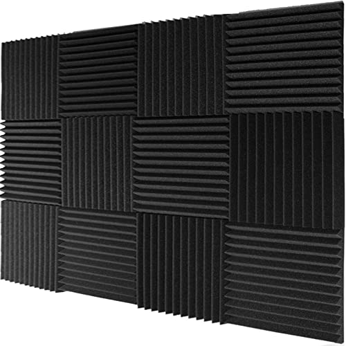 "Mybecca 12 Pack- Acoustic Panels Studio Foam Wedges 1"" X 12"" X 12"""