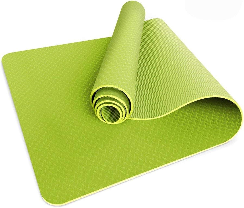 Yoga Mat, Yoga Mats TPE Anti-Skid Anti-Tear Environmental Tasteless Fitness Mat, color Optional