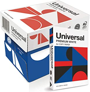 Universal Australian Made Universal Office Copy Paper A4 500 Sheets, Carton of 5 Packs, White, (105120)