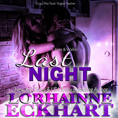 Last Night     Kate and Walker: Deadly, Dangerous & Desired Series, Book 3              Written by:                                                                                                                                 Lorhainne Eckhart                               Narrated by:                                                                                                                                 Glenda Johnson                      Length: 2 hrs and 50 mins     Not rated yet     Overall 0.0