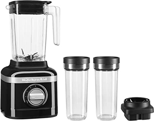 popular KitchenAid 2021 KSB1332OB 48oz, 3 Speed Ice Crushing Blender with 2 x 16oz Personal discount Jars to Blend and Go, Onyx Black outlet sale