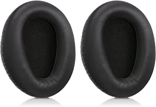 kwmobile 2X Earpads for Sony MDR-10RBT / 10RNC / 10R - PU Leather Replacement Ear Pads for Over-Ear Headphones - Black