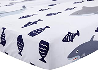 Fitted Crib Sheets, 100% Safe Cotton, Soft Breathable Hypoallergenic Sheets for Baby, Fits Standard Crib Mattress and Toddler Mattress