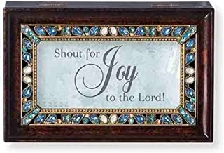 Roman Shout for Joy to The Lord Brown Insert Small Music Box