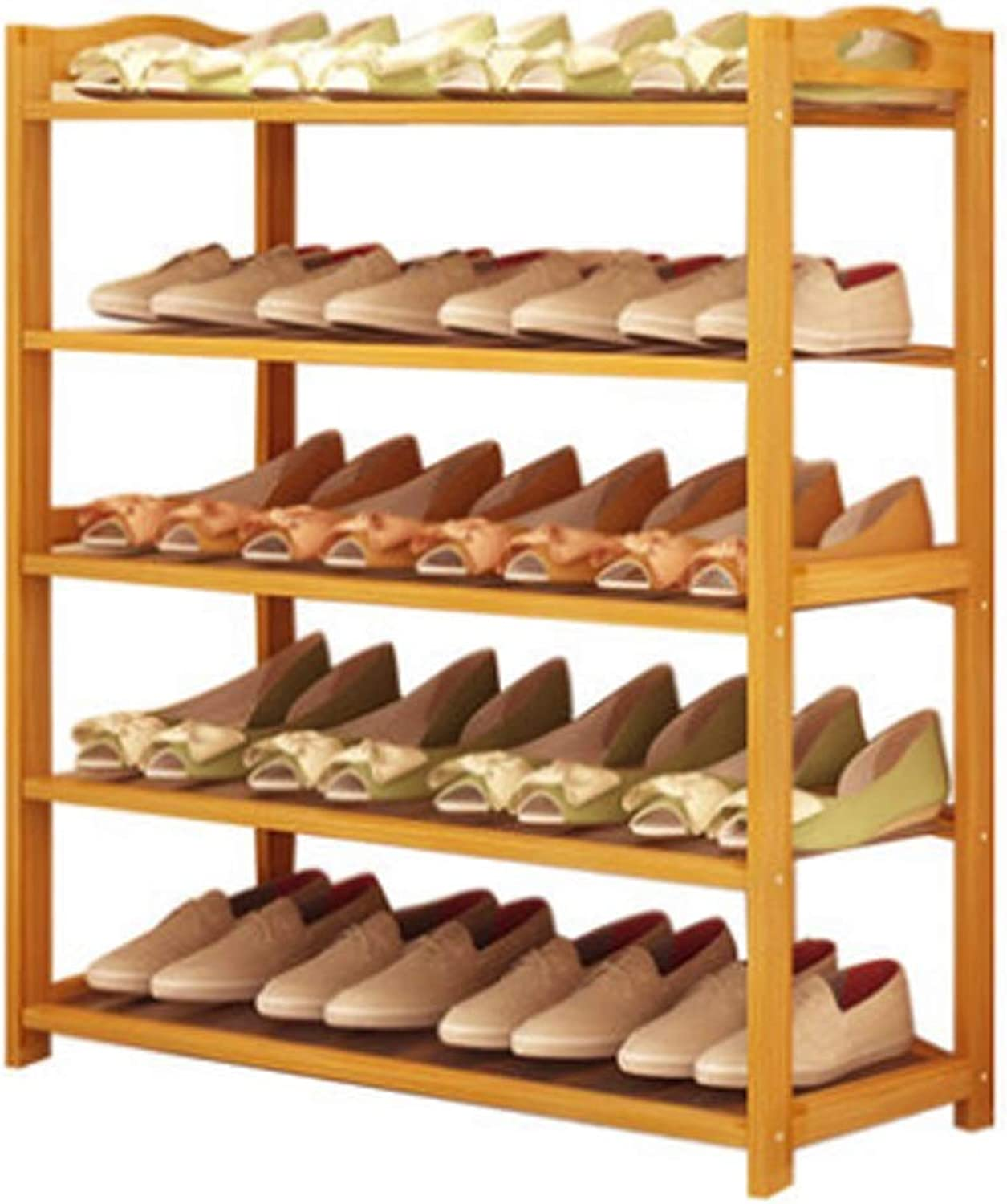 shoes Rack, shoes Cabinet, Wooden color Bamboo Shelf, Home Entrance Cabinet, Assembly Dormitory Storage Rack, Multi-Functional Optional (Size   50 Models)