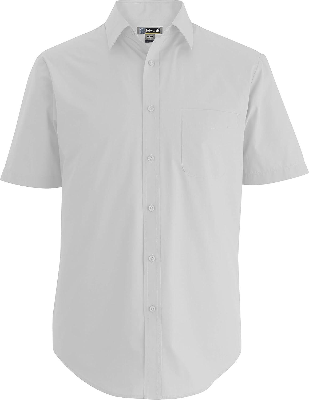 Edwards Men's Short Sleeve Essential Broadcloth Shirt