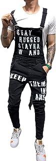 N / D Men Ripped Jeans Jumpsuits Shorts Hi Street Distressed Denim Bib Overalls for Man Suspender Pants