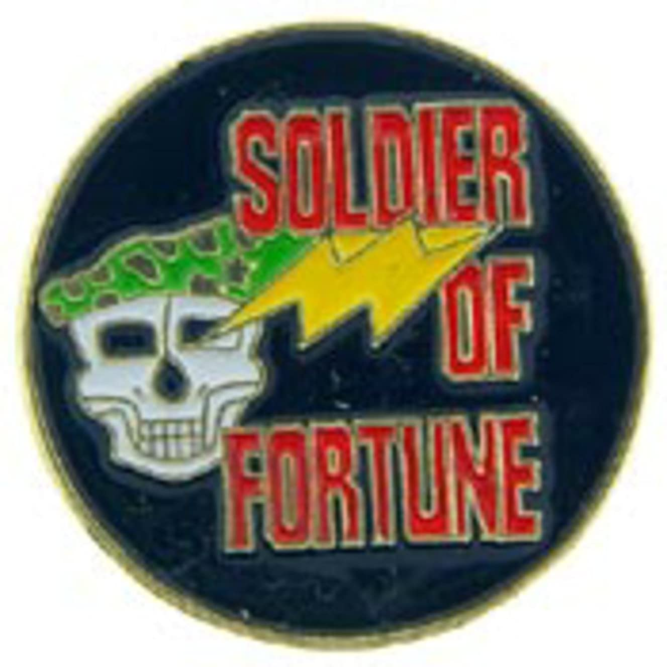 EagleEmblems P62591 Pin-Soldier of Fortune W/Skull (1'')