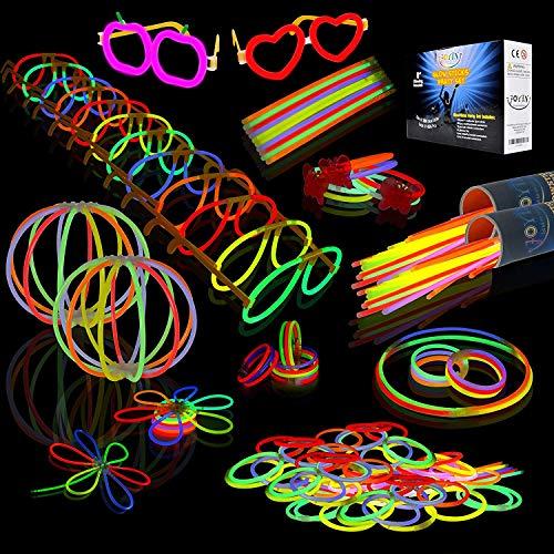 JOYIN Glow Sticks Bulk 200 8' Glowsticks (Total 456 PCs 7 Colors); Bracelets Glow Necklaces...