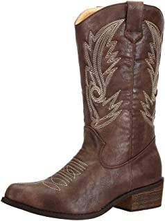 Women's Wide Calf Western Cowgirl Cowboy Boots