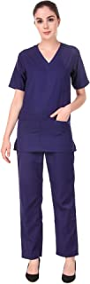 Matram Uniform Scrub Suits for Hospital Dress Wear Polycotton Navy Blue