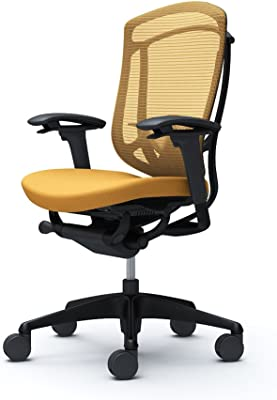 オカムラ オフィスチェア コンテッサ セコンダ 可動肘 ハイバック ウレタンキャスター仕様 クッション イエロー CC83ZS-FPD9