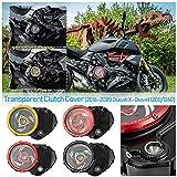 Para 16-20 Ducati X Diavel X-Diavel XDiavel 1200 1260 Piezas de motor Racing Cubierta de embrague transparente Placa de presión de resorte de marco Protector 2016 2017 2018 2019 2020 (Color.004)