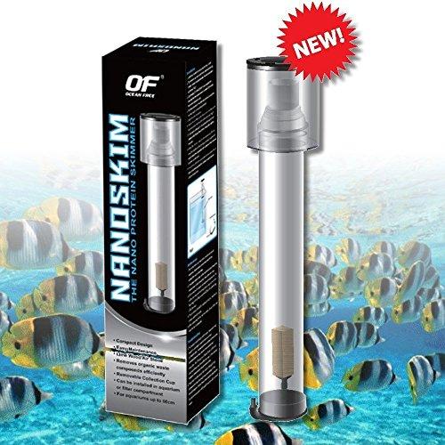 Ocean Free Protein Skimmer Nano 15 GAL - Lime Wood Air Stone Saltwater Marine Aquarium Filter
