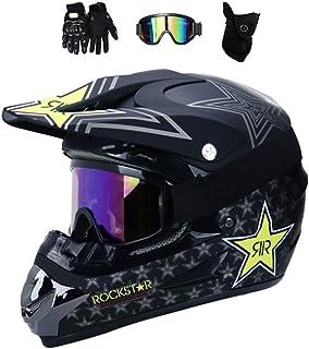 MRDEER Motocross Helm, Adult Off Road Helm mit Handschuhe Maske Brille, Unisex Motorradhelm Cross Helme Schutzhelm ATV Helm für Männer Damen Sicherheit Schutz, 5 Stile Verfügbar