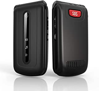 Ushining Flip Phone Unlocked 3G Dual SIM Card SOS Button Big Buttonand LargeVolume Easy to Use Flip Cell Phone for Senio...