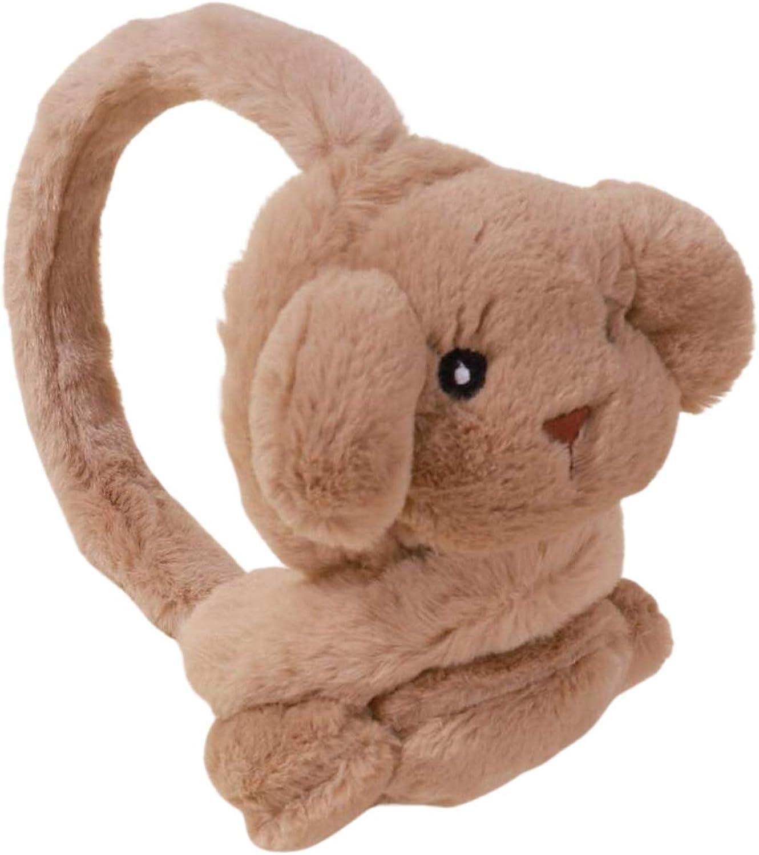 AMMARA Faux Fur Earmuff, Warm Teddy Bear Earmuffs for Girls, Cartoon Earmuffs for Girls and Women: Clothing, Shoes & Jewelry