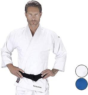 Elite Sports Deluxe Adult Uniform IJF Judo Gi w/Preshrunk Fabric & Free Belt