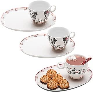 Zak (6pc) Dish Set Disney Mickey Minnie Mouse Ceramic Teacup Plates Party Supplies
