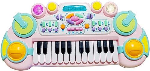 LIPENG-TOY Kindertastatur 0-6 Jahre Anf er Einfürung Weißiches Baby Puzzle Kinder Multifunktionsspiel Klavierspielzeug 1-3 Jungen (Farbe   Bunte)