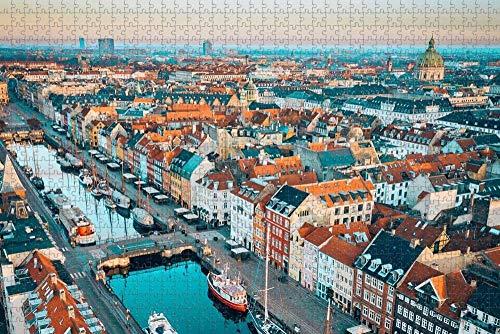Jigsaw Puzzle for Adults Denmark Copenhagen Puzzle 1000 Piece Wooden Travel Souvenir