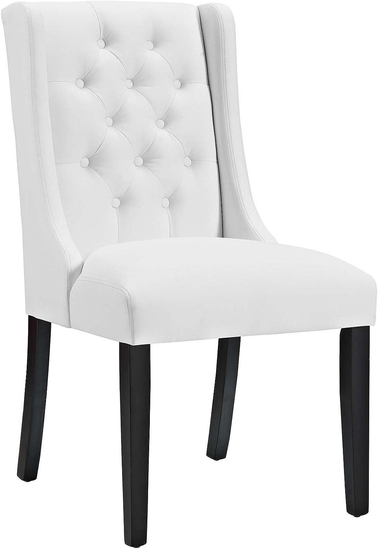 Modway EEI-2234-WHI Baronet Vinyl Dining Chair, White