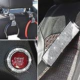 DOCAS Bling Set di cinture di sicurezza, spallacci universali per cinture di sicurezza per auto con ganci per sedile Adesivo per anello di accensione per donne (confezione da 7)