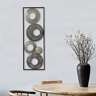 New All American Collection Modern Chic Aluminum/Metal Wall Decor with Frame..