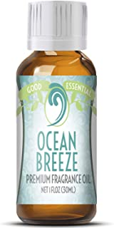 Ocean Breeze Scented Oil by Good Essential (Huge 1oz Bottle - Premium Grade Fragrance Oil) - Perfect for Aromatherapy, Soaps, Candles, Slime, Lotions, and More!