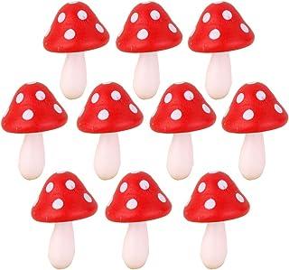 Hearsbeauty 10/pz mini falso fungo per mini vasi Fairy DIY Decor giardino casa delle bambole Blue