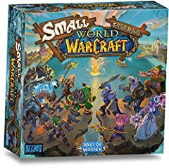 A light-hearted fantasy civilization game based on the World of Warcraft universe Lavishly illustrated with exclusive artwork With straight forward rules, Small World of Warcraft is easy to learn while offering multiple strategies Number of players: ...
