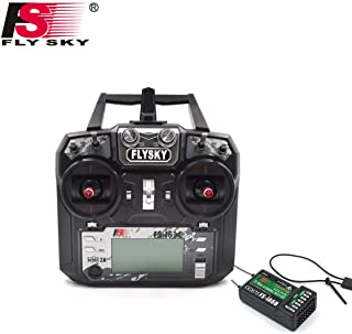 (Fs I6x+ia6b) - Flysky FS-i6X FS I6X 2.4G 6CH RC Transmitter Controller iA6B Receiver for RC Helicopter Multi-Rotor Drone(...