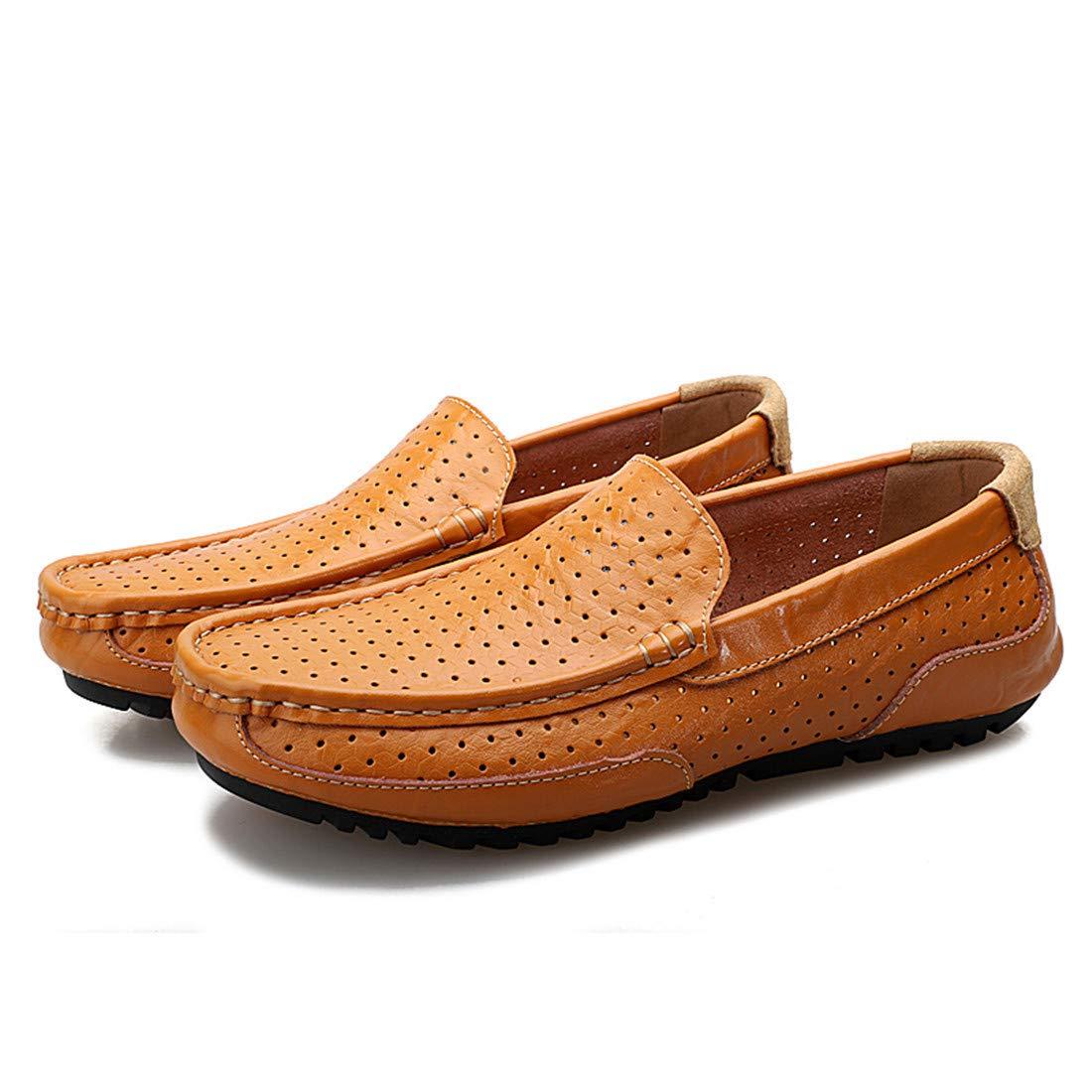 男性の通気性に優れた通気性のあるエンドウ豆の靴ドライビングシューズチェック柄の革ピーズの靴オプションの飛んでいるMDスポーツショールオプションの飛んでいる織物のスポーツシューズショックアブソーバーのMDソールFT 45-2028-1